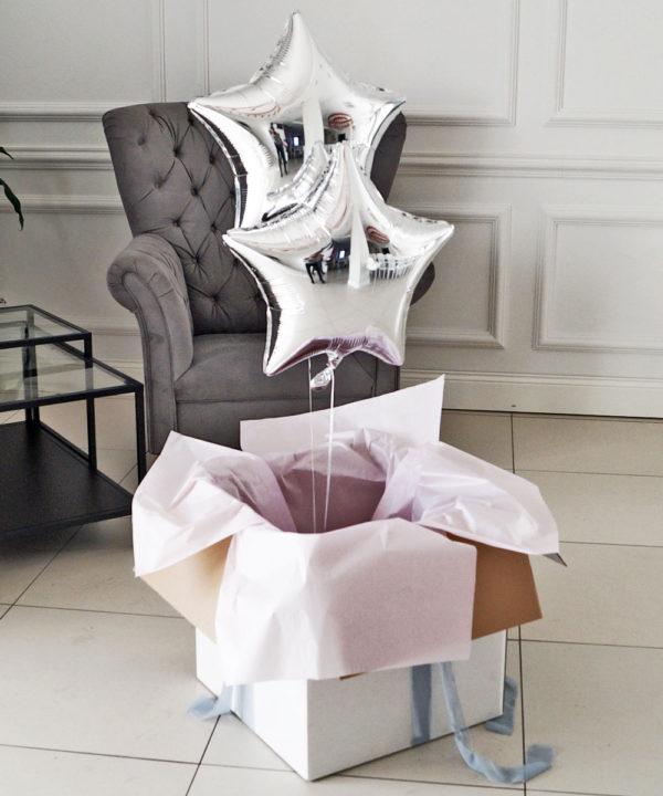 Balony w pudełku – Blask różu