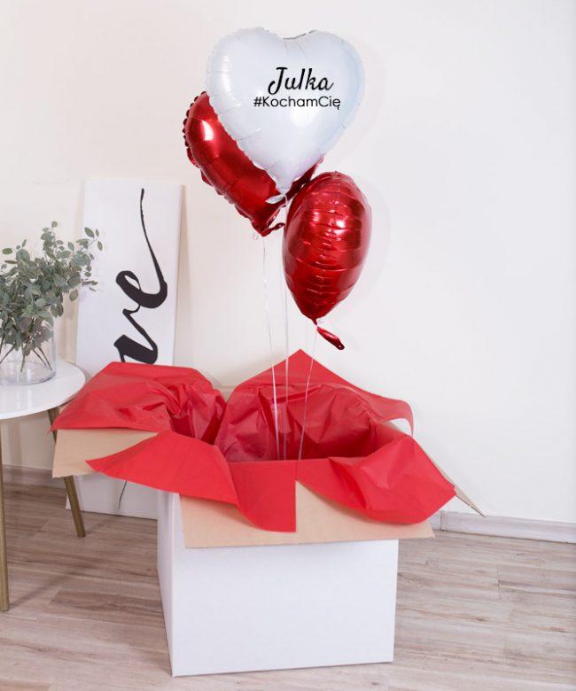 balony dla niej na prezent z okazji walentynek