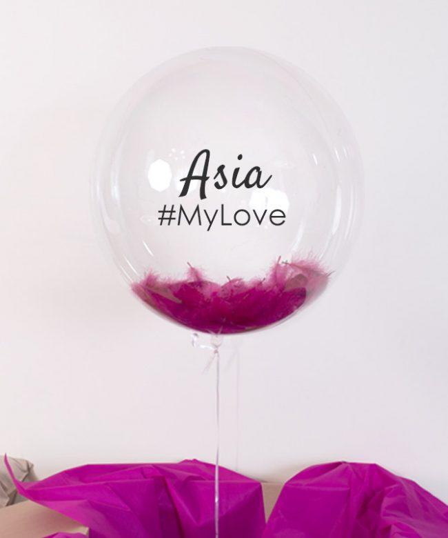 personalizowany balon na prezent