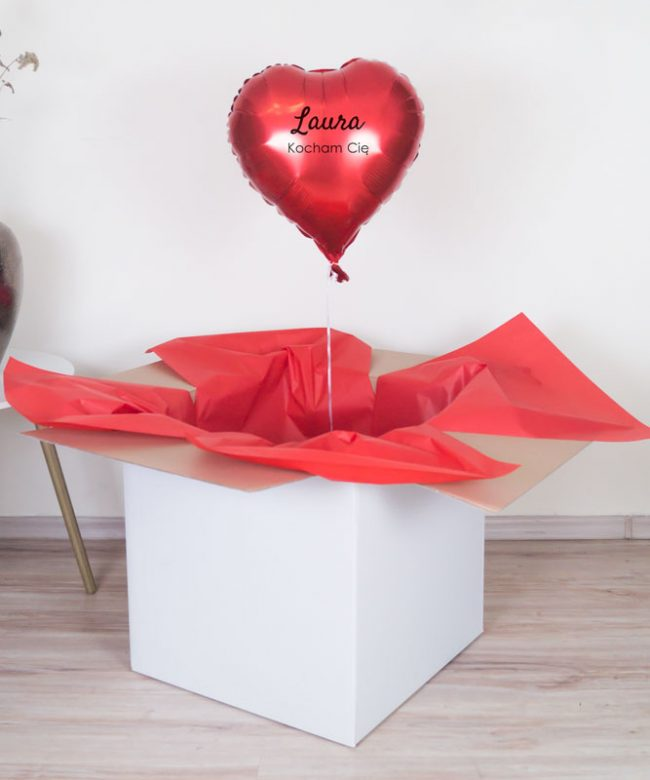 prezent dla zakochany balon serce
