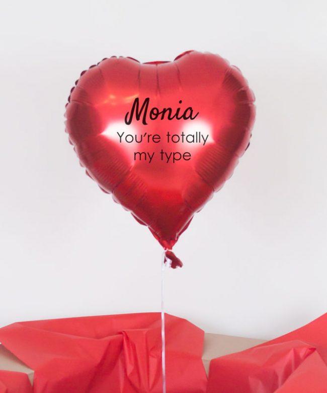 serce balonowe na walentynki z dostawą