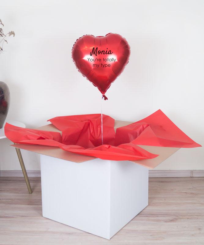 prezent na walentynki poczta balonowa