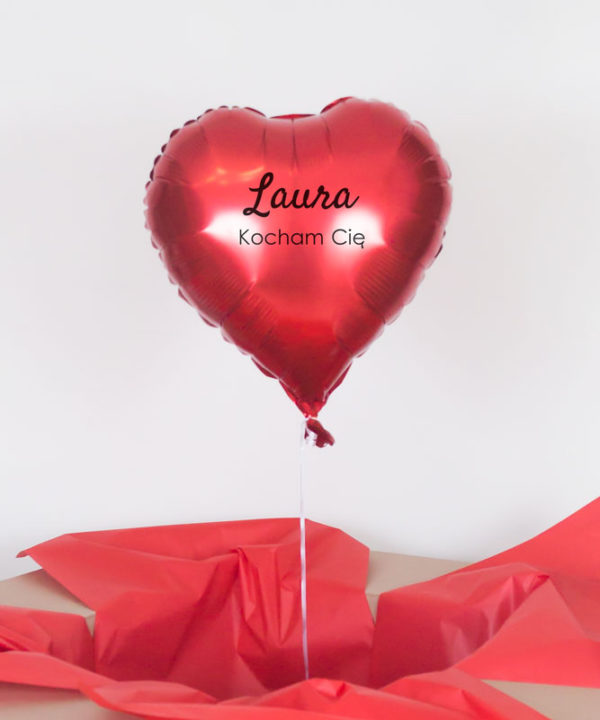 Balon serce z helem w pudełku – Kocham Cię