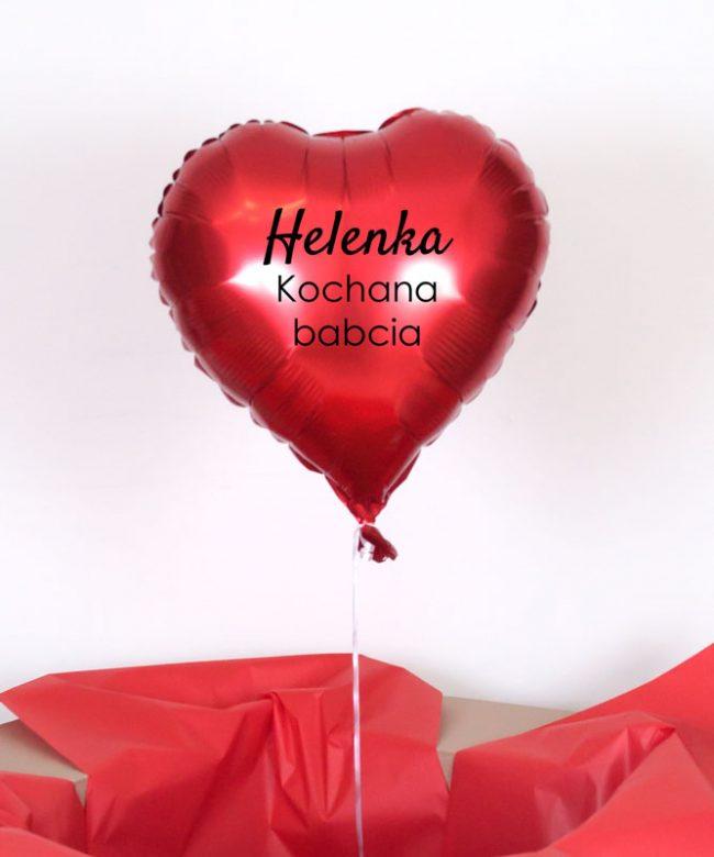 serce balonowe dla babci prezent