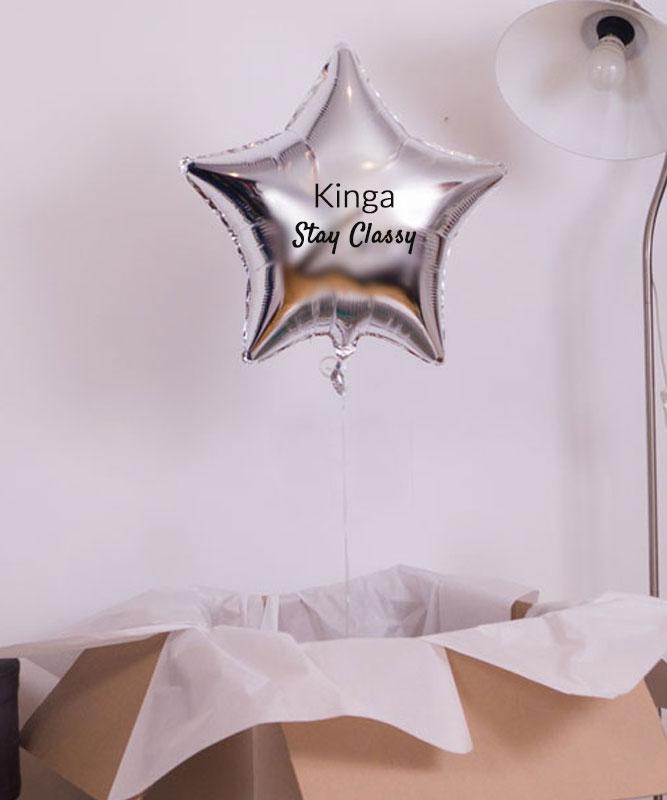 Balon z helem w pudełku – Stay Classy