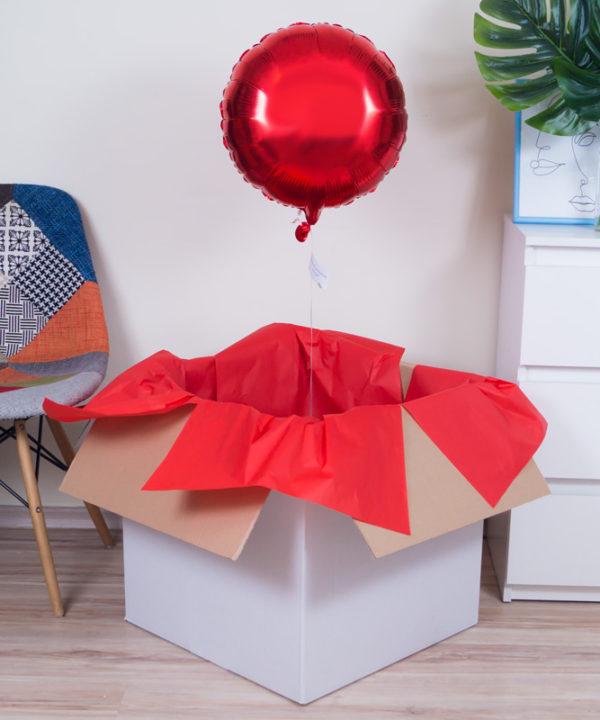 Balon z helem w pudełku na prezent – Rubin