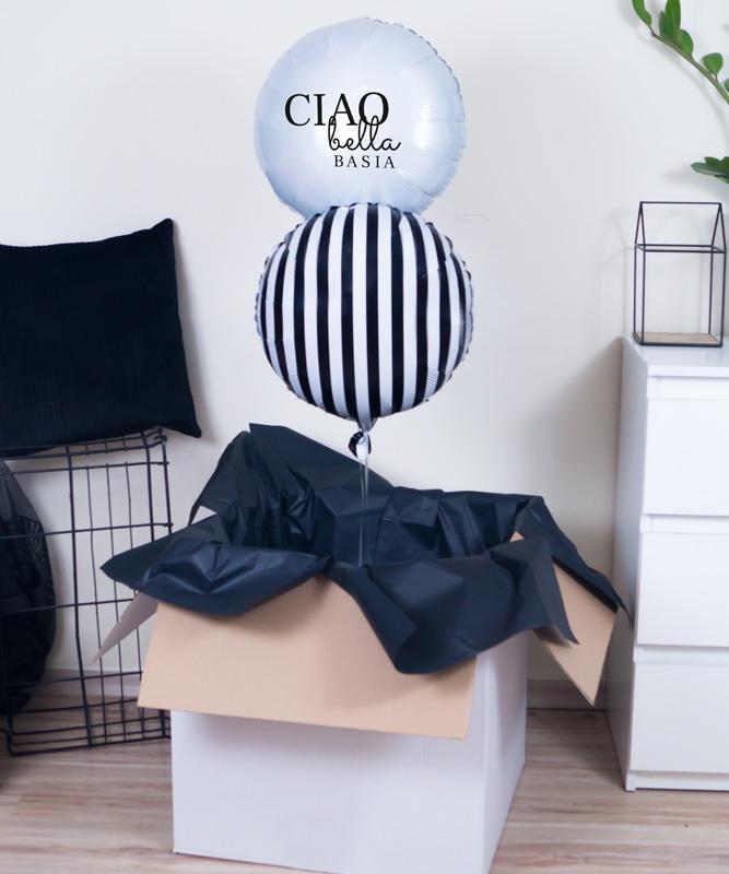 balon z helem poczta balonowa dla niej