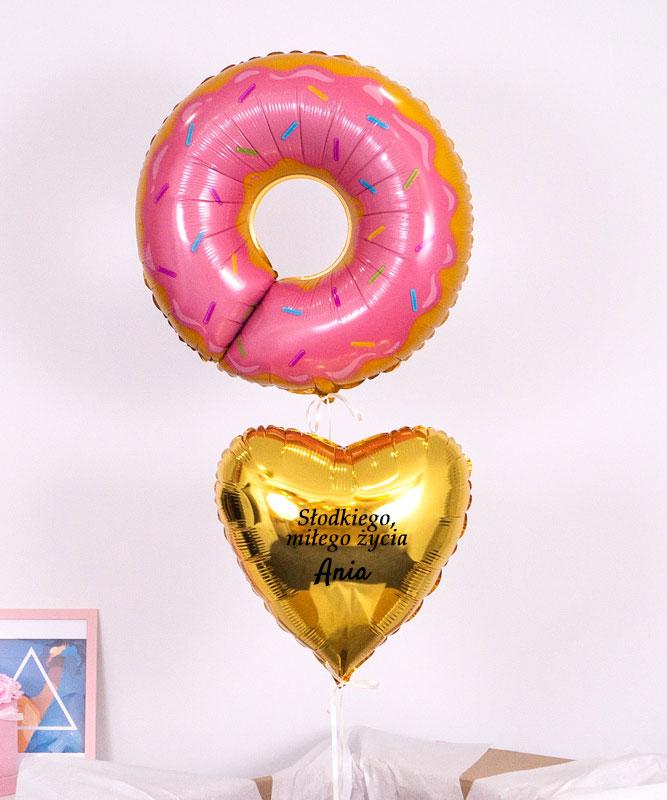 Balonowy zestaw w pudełku – Słodkiego, Miłego Życia
