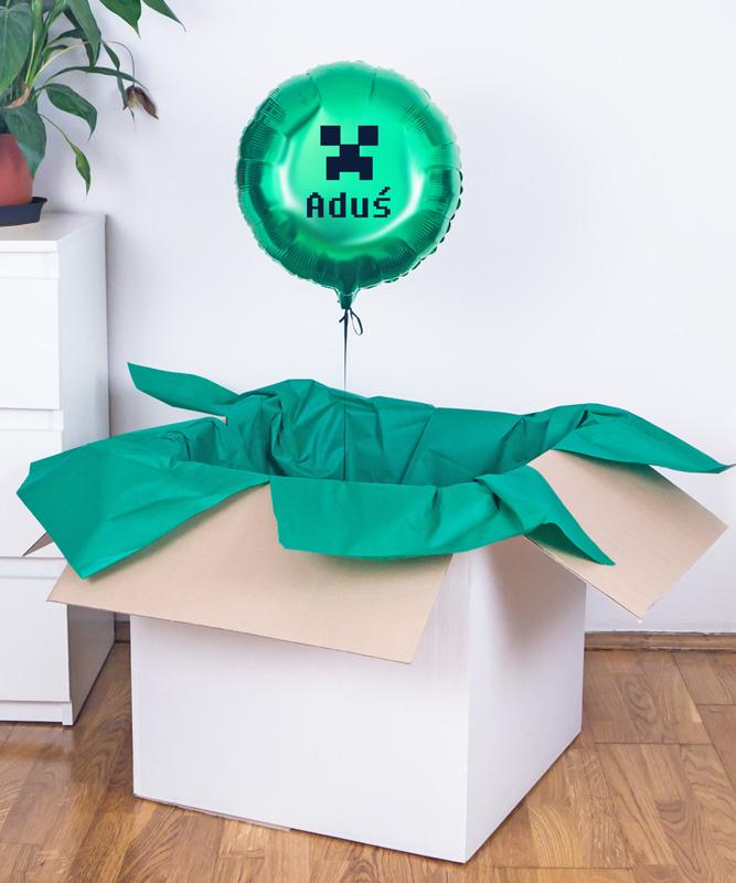 prezent balonowy minecraft