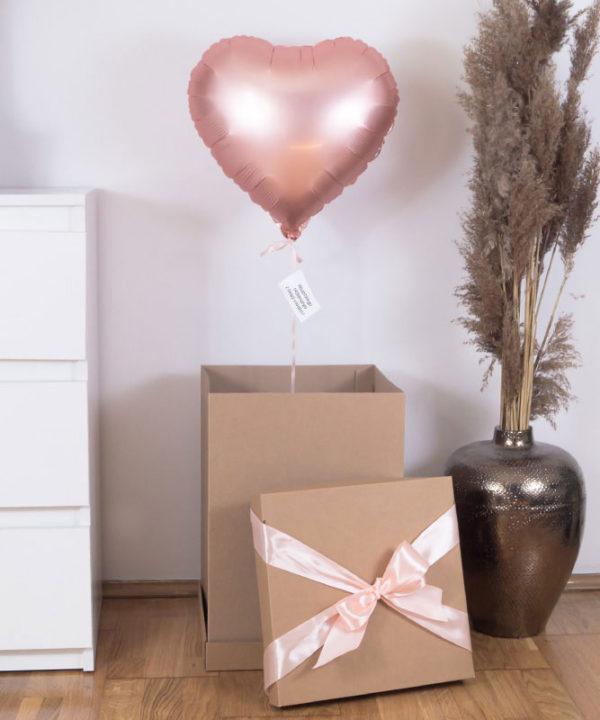 Balon z helem w prezentowym pudełku – MattPinkGold