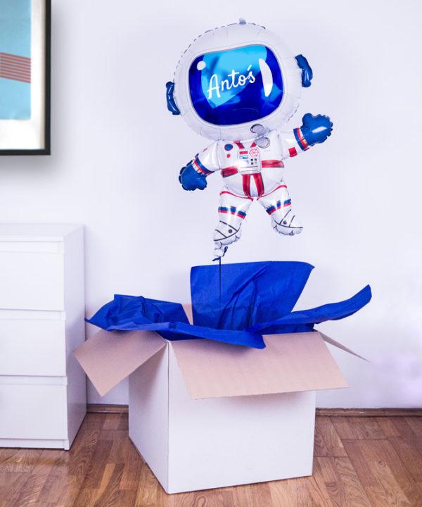Balon Kosmonauta z helem w pudełku – dla chłopca