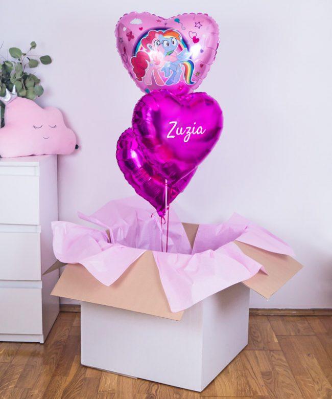prezent z balonów dla dziewczynki