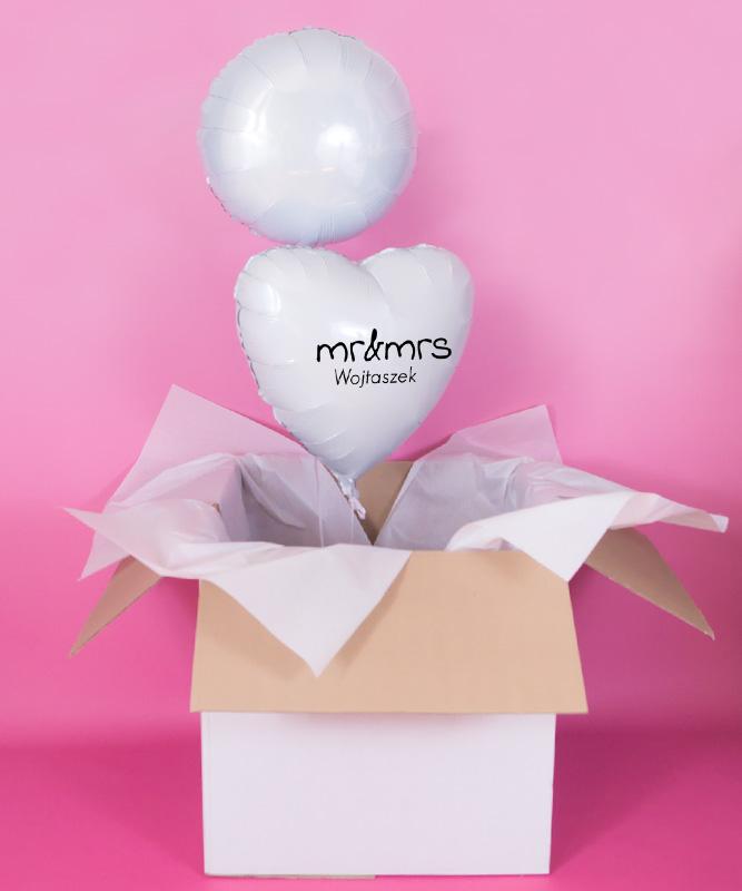 balonowe duo dla pary na rocznicę