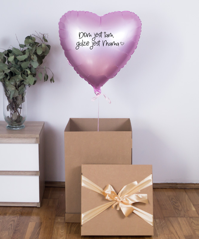 Balon z helem w pudełku dla Mamy – Dom