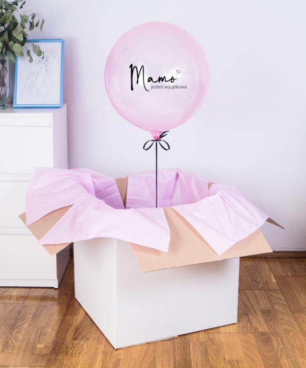 Balon z helem w pudełku dla Mamy – Jesteś wyjątkowa