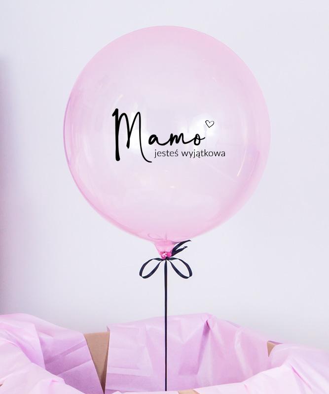 różowy balon dla mamy
