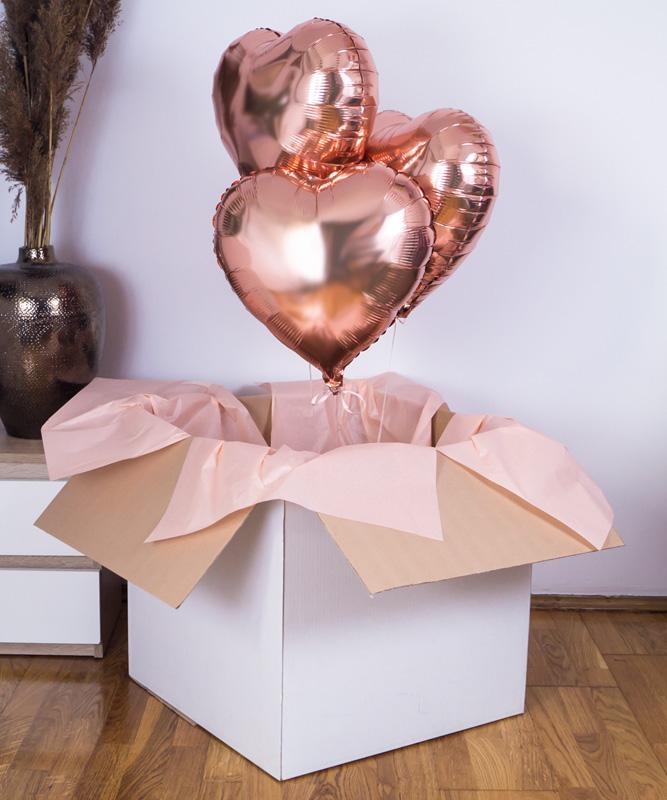 Balony w pudełku – Madame PinkGold