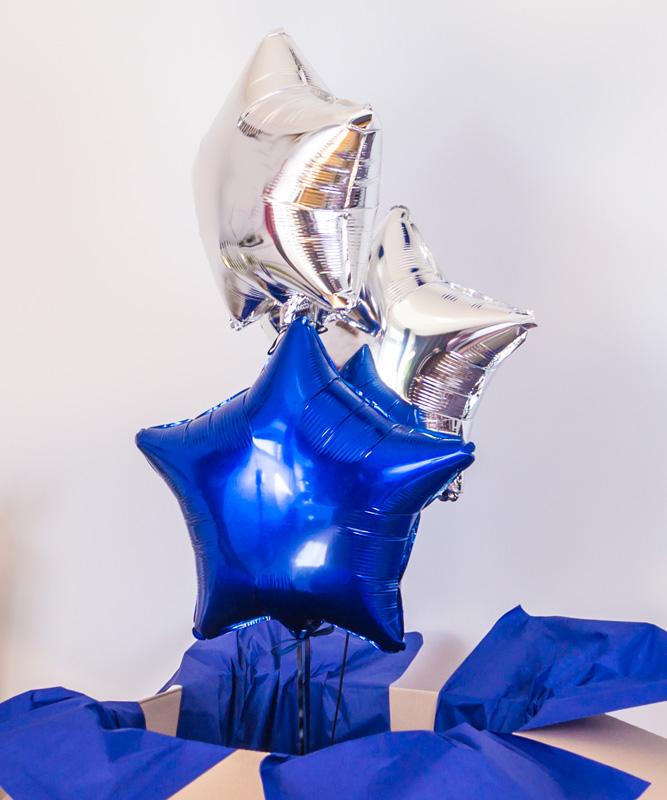 Zestaw trzech balonów z helem w pudełku – Inspiracja