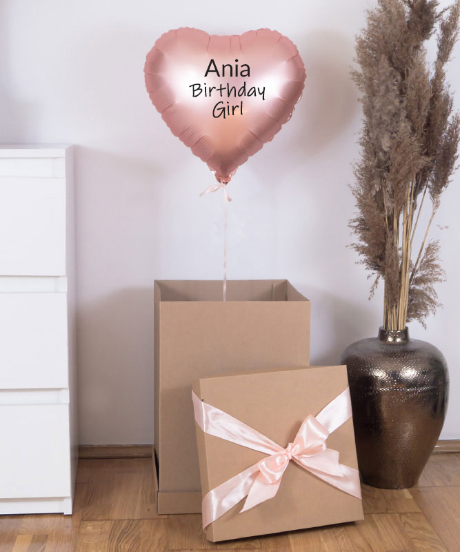 Balon z helem w prezentowym pudełku – Birthday Girl