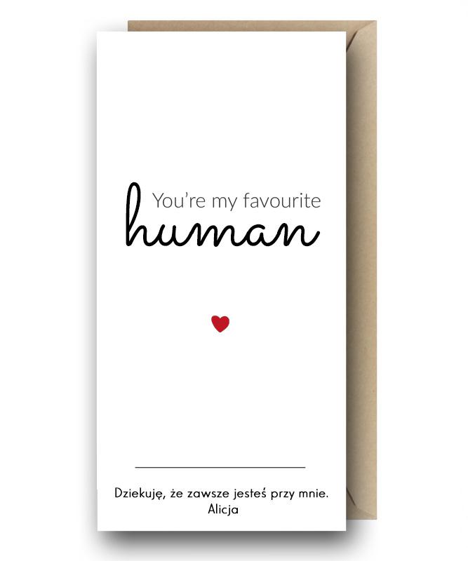 Personalizowana kartka – My Favourite Human
