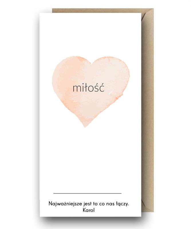 Personalizowana kartka z Twoimi życzeniami – Miłość