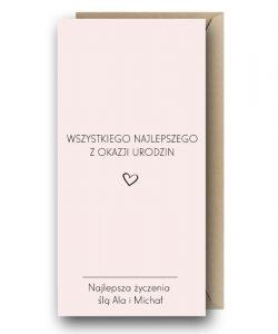 Kartka różowa - Wszystkiego Najlepszego
