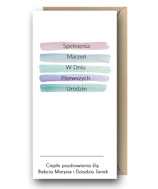 Personalizowana kartka z Twoimi życzeniami – Pierwsze Urodziny