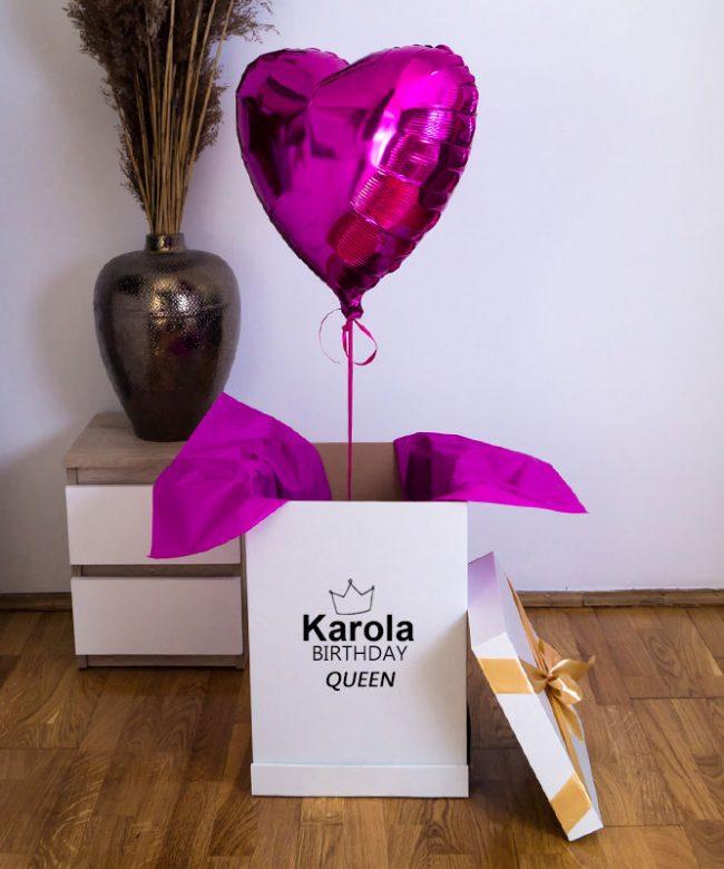 balon wyskakujący z pudełka