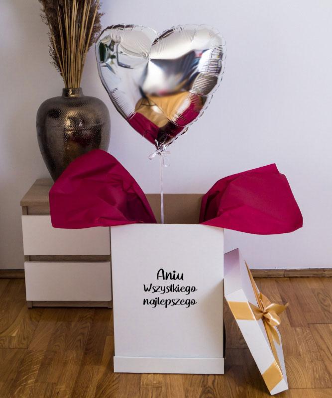 Balon z helem w prezentowym pudełku – Urodzinowy Gest