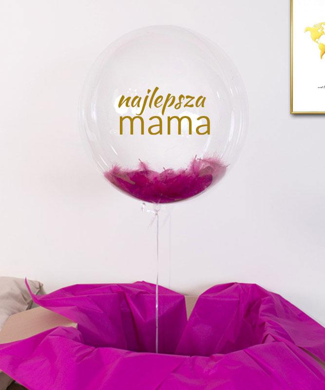 Balon z helem w pudełku dla Mamy – Najlepsza