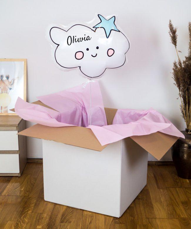 personalizowany balon na urodziny dla dziewczynki
