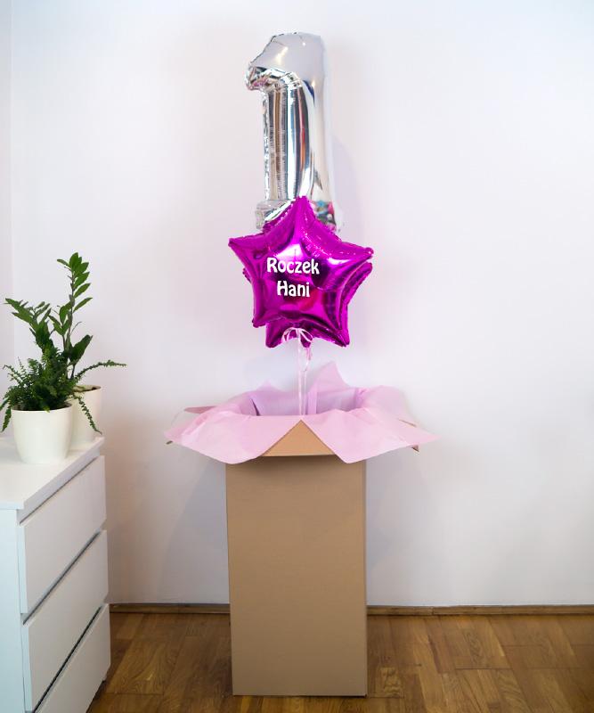 zestaw balonowy na roczek dla dziewczynki