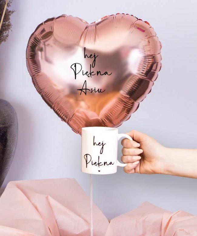 zestaw prezentowy z balonem