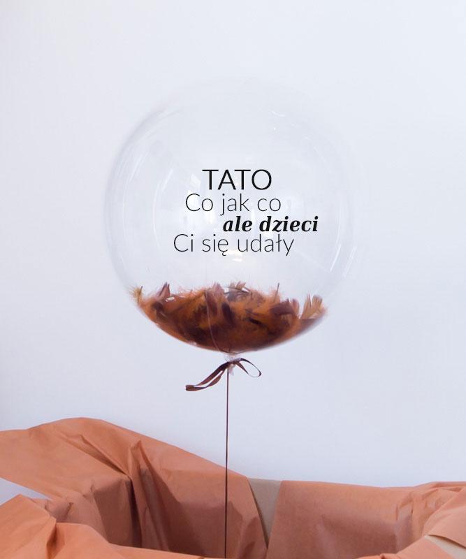 Balon z helem dla Taty – od Dzieci