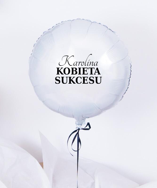 """Prezent gratulacyjny – balon z helem """"Kobieta Sukcesu"""""""
