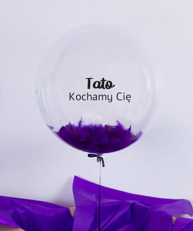 Balon z helem dla Taty – Kochamy Cię