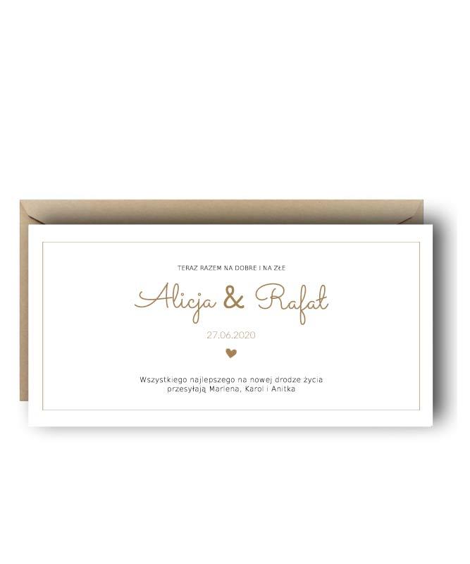 personalizowana kartka na wesele