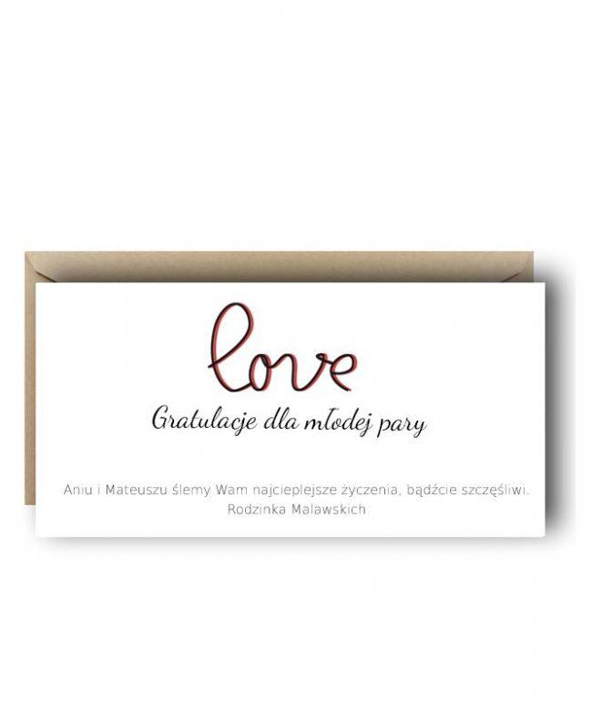 kartka na wesele z własnymi życzeniami