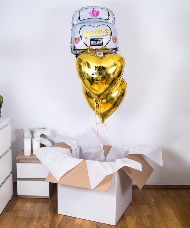 balony z helem na ślub