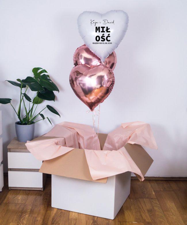 poczta balonowa na ślub