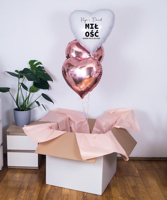 Personalizowane balony z helem dla pary na prezent – Miłość