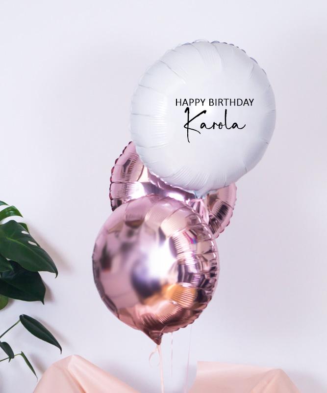 Balony z helem w pudełku na urodziny – Happy B-day