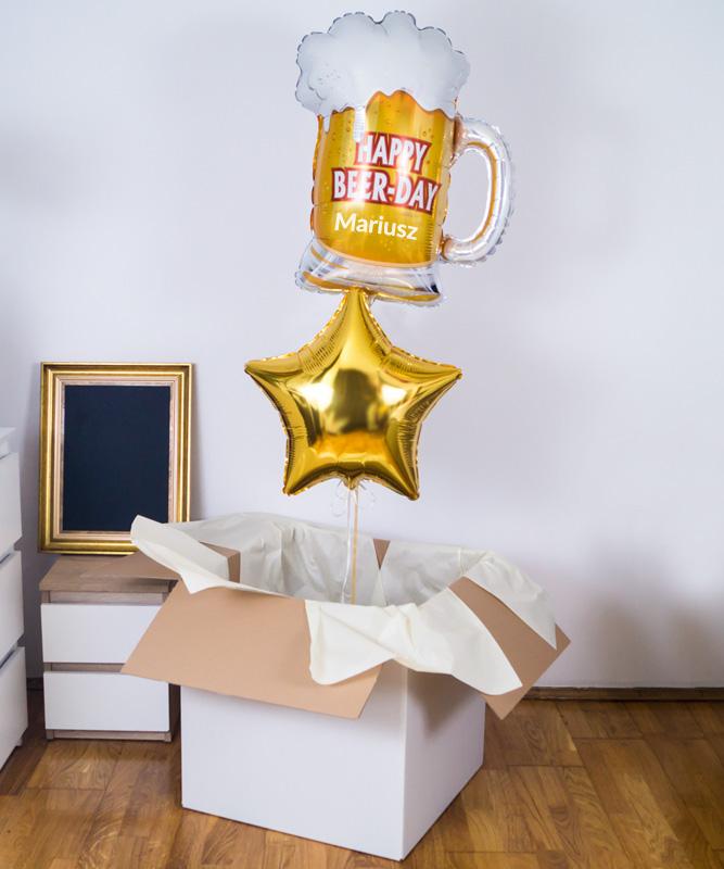 Zestaw balonów z helem na prezent – Browarek