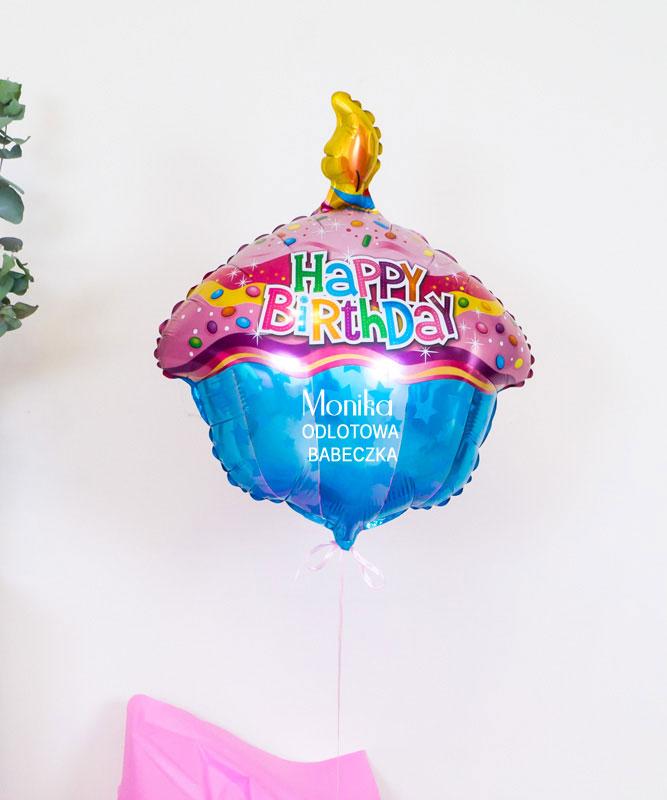 Balon z helem na prezent – Odlotowa Babeczka