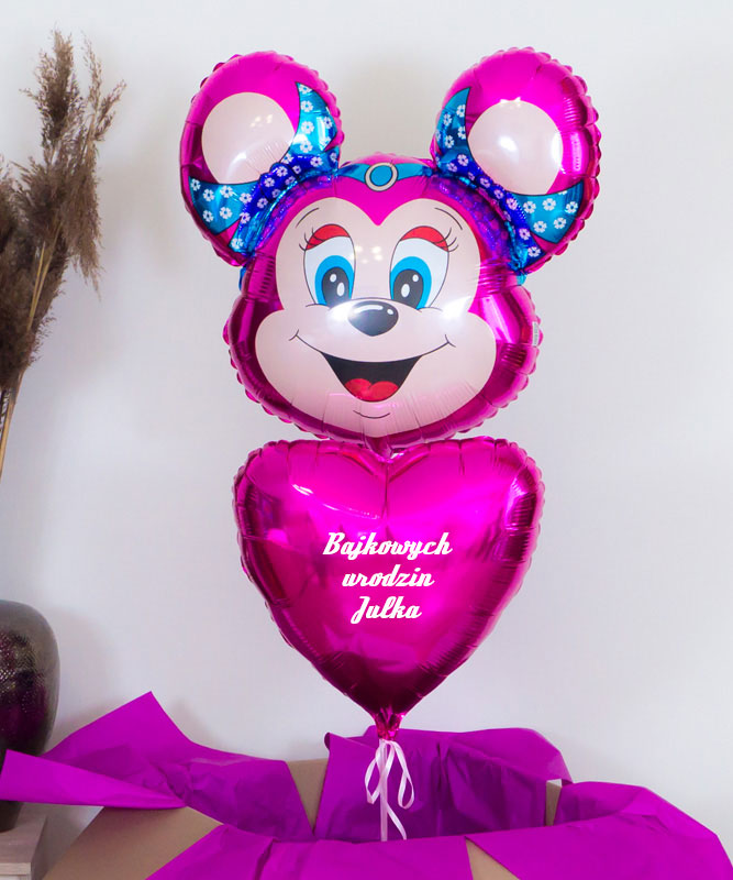 Balony z helem Myszka Miki na urodziny