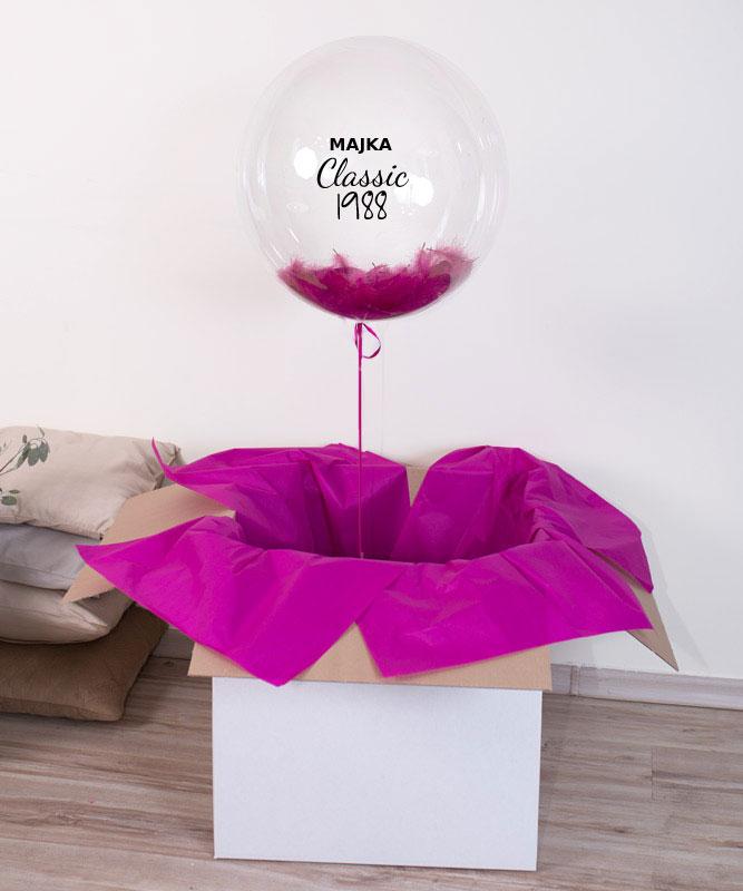 Balon serce z helem na prezent urodzinowy – Classic + rocznik