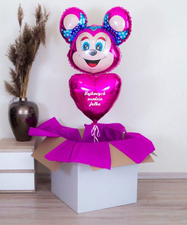 balony w pudełku dla dziewczynki