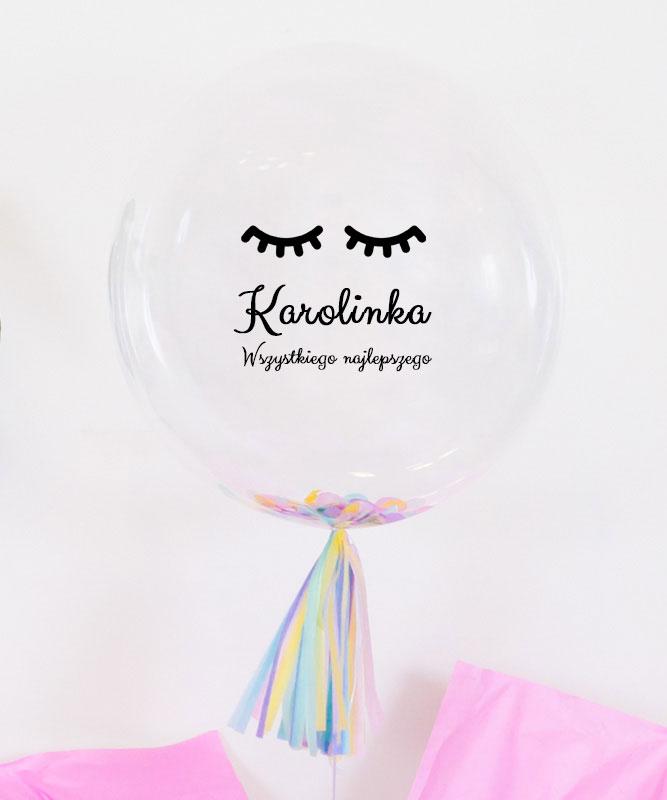 balon dla dziewczynki z imieniem