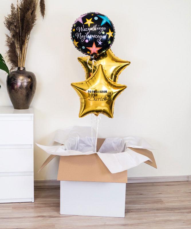 Balony z helem na urodziny – Wszystkiego najlepszego + imię