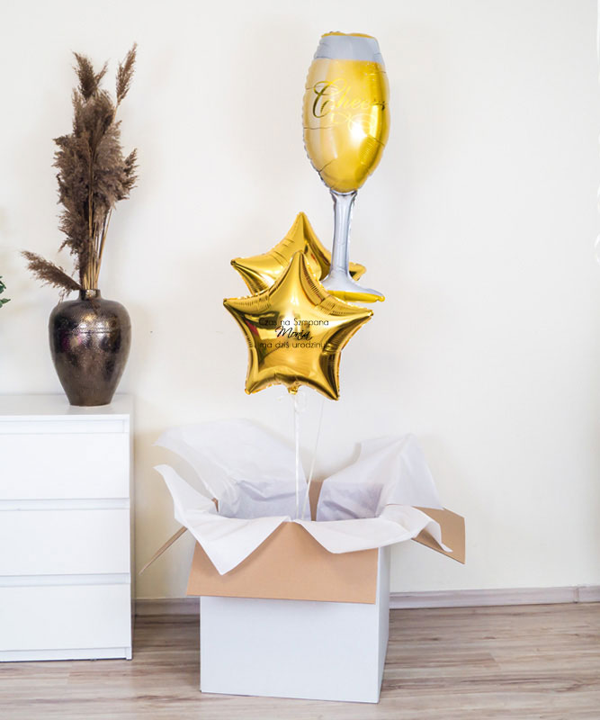 Balony z helem na prezent – Czas na Szampana